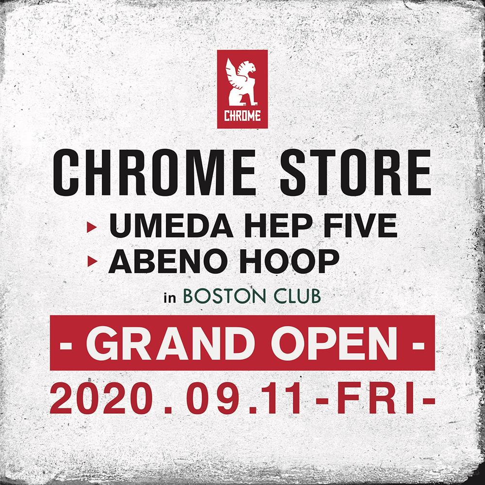 CHROME STORE UMEDA / ABENO オープン!