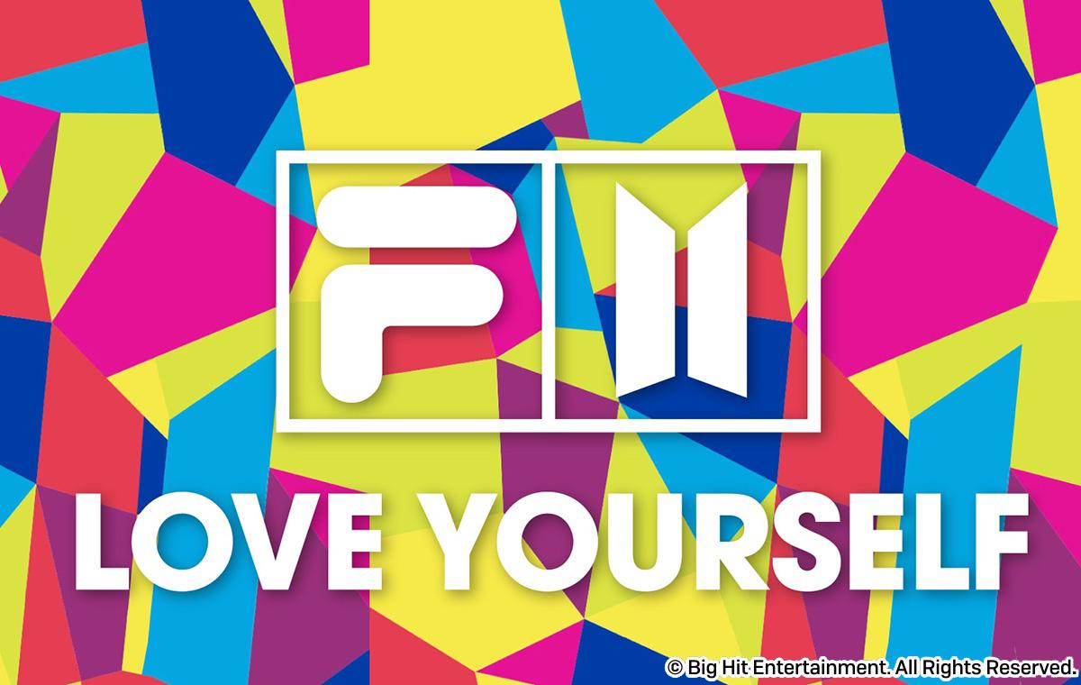 FILA x BTSコラボレーション 20FWコレクション love yourself